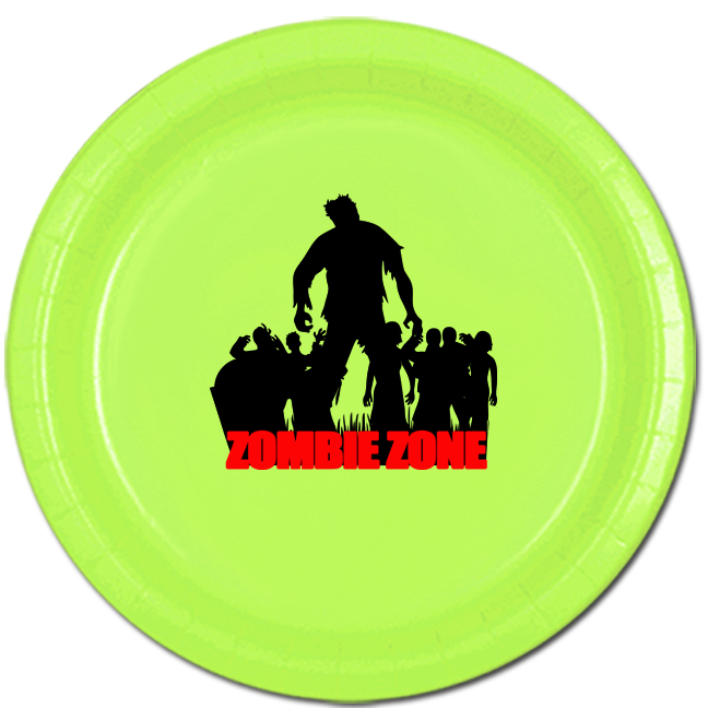 ZOMBIE ZONE DINNER PLATE PARTY SUPPLIES
