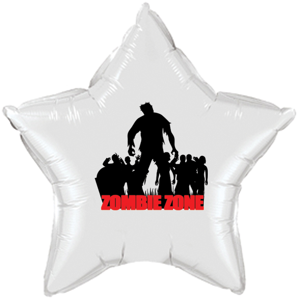 ZOMBIE ZONE MYLAR BALLOON PARTY SUPPLIES