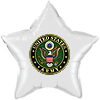 ARMY GREEN WHITE STAR MYLAR BALLOON PARTY SUPPLIES