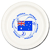 AUSTRALIA DINNER PLATE 8/PKG PARTY SUPPLIES