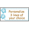PERSONALIZED BABY BOY TOES BANNER PARTY SUPPLIES