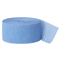 BABY BLUE CREPE STREAMER (81') PARTY SUPPLIES