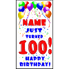 PERSONALIZED 100TH BALLOON DOOR BANNER PARTY SUPPLIES