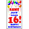 PERSONALIZED 16TH BALLOON BD DOOR BANNER PARTY SUPPLIES