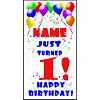 PERSONALIZED 1ST BALLOON BDY DOOR BANNER PARTY SUPPLIES