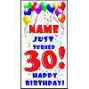 PERSONALIZED 30TH BALLOON BD DOOR BANNER PARTY SUPPLIES