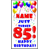 PERSONALIZED 85TH BALLOON BD DOOR BANNER PARTY SUPPLIES