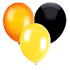 BLACK ORANGE YELLOW BALLOON COMBO PARTY SUPPLIES