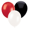 BLACK, WHITE & RED BALLOON (SOLID COLOR) PARTY SUPPLIES