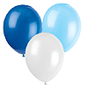 BLUE WHITE & LT BLUE BALLOONS PARTY SUPPLIES