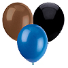 BLUE BROWN BLACK BALLOONS (SOLID COLOR) PARTY SUPPLIES