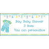 PERSONALIZED BABY BOY CLOTHES BANNER PARTY SUPPLIES
