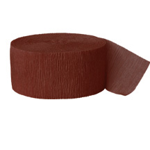 BROWN CREPE STREAMER (81') PARTY SUPPLIES