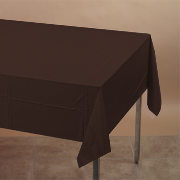 CHOCOLATE BROWN 54X108IN. PAPER TABLECVR PARTY SUPPLIES