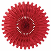 TISSUE FAN RED 25IN. PARTY SUPPLIES