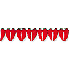 CHILI PEPPER TISSUE GARLAND PARTY SUPPLIES