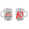 80 AND PROUD CUSTOMIZED MUG (15OZ.) PARTY SUPPLIES