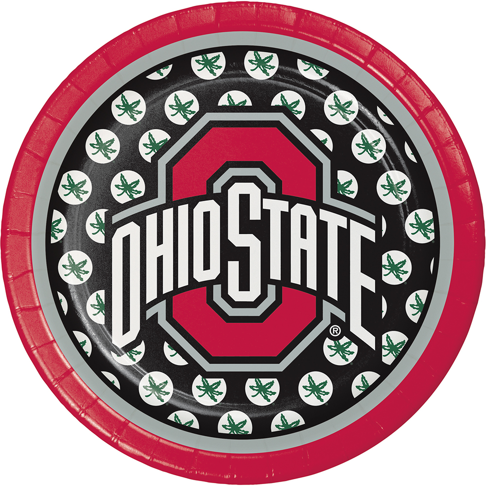 OHIO STATE DESSERT PLATE (8CT) PARTY SUPPLIES