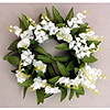 LILY OF VALLEY CANDLE RING 3 IN. (12/CS) PARTY SUPPLIES