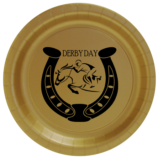 Click for larger picture of DERBY DAY DESSERT PLATE PARTY SUPPLIES