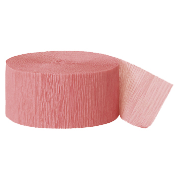 DUSTY ROSE STREAMER (81') PARTY SUPPLIES