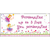 PERSONALIZED FAIRIES BANNER PARTY SUPPLIES