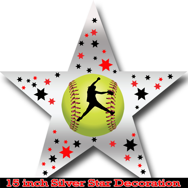 FASTPITCH SOFTBALL STAR DECORATION PARTY SUPPLIES