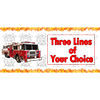 PERSONALIZED FIRE TRUCK BANNER PARTY SUPPLIES