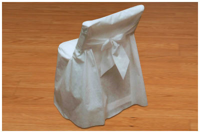 Click for larger picture of CHAIR COVERS WITH BOW - FOLDING CHAIR PARTY SUPPLIES