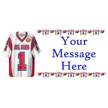 PERSONALIZED FOOTBALL SHIRT BANNER PARTY SUPPLIES
