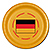 GERMANY FLAG TABLEWARE