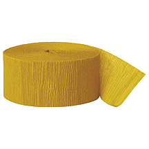 GOLDENROD CREPE STREAMER (81') PARTY SUPPLIES