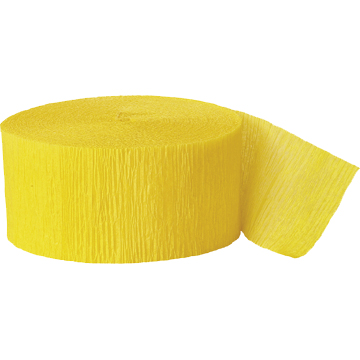HOT YELLOW CREPE STREAMER (81') PARTY SUPPLIES