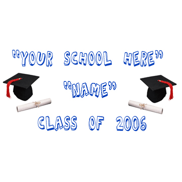 PERSONALIZED GRADUATION SCHOOL BANNER BL PARTY SUPPLIES