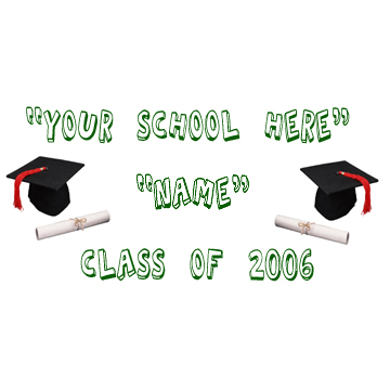 PERSONALIZED GRADUATION SCHOOL BANNER GR PARTY SUPPLIES