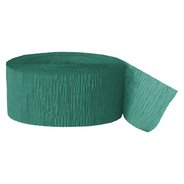 EMERALD GREEN CREPE STREAMER (81') PARTY SUPPLIES