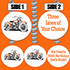 CUSTOMIZED HAWG MOTORCYCLE DANGLER PARTY SUPPLIES