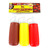 PICNIC CONDIMENT  DISPENSERS 3/PKG PARTY SUPPLIES