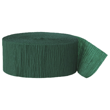 HUNTER GREEN CREPE STREAMER (81') PARTY SUPPLIES