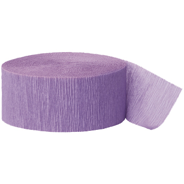 LAVENDER CREPE STREAMER (81') PARTY SUPPLIES