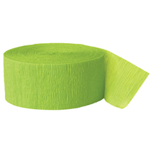 LIGHT GREEN CREPE STREAMER (81') PARTY SUPPLIES