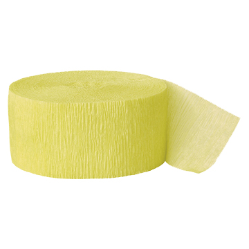 CANARY YELLOW CREPE STREAMER (81') PARTY SUPPLIES