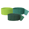 GREEN, HTR GREEN, LT GREEN, CREPE(SOLID) PARTY SUPPLIES