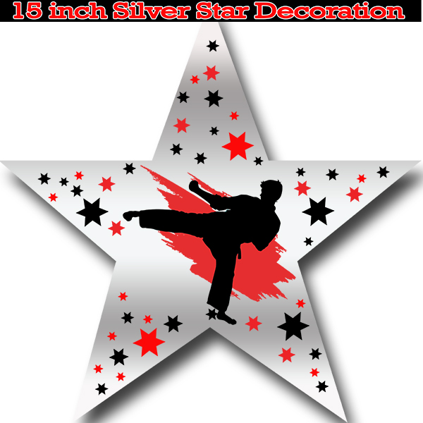 MARTIAL ARTS STAR DECORATION PARTY SUPPLIES