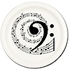 MUSIC NOTE BASS DESSERT PLATE 8/PKG PARTY SUPPLIES