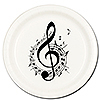 MUSIC NOTE TREBLE DESSERT PLATE 8/PKG PARTY SUPPLIES
