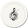 MUSIC NOTE TREBLE DINNER PLATE 8/PKG PARTY SUPPLIES