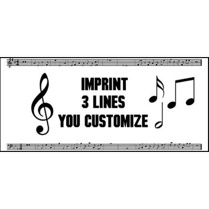 Click for larger picture of PERSONALIZED MUSIC NOTE BANNER  PARTY SUPPLIES