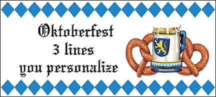 Click for larger picture of PERSONALIZED OKTOBERFEST BANNER PARTY SUPPLIES