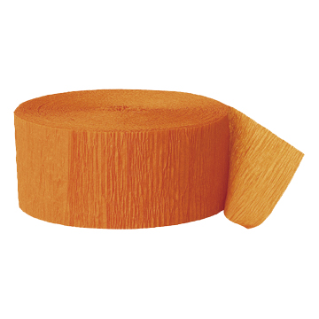 ORANGE CREPE STREAMER (81') PARTY SUPPLIES